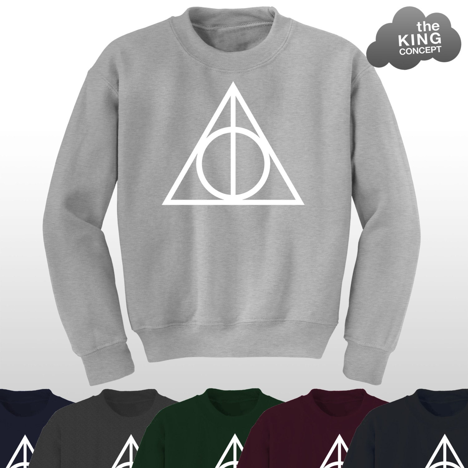 Deathly Hallows Jumper Top Sweater Harry Potter Sweatshirt The Logo Voldemort Triangle