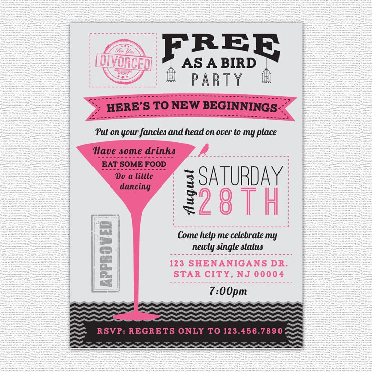Divorce Party Invitations can inspire you to create best invitation template
