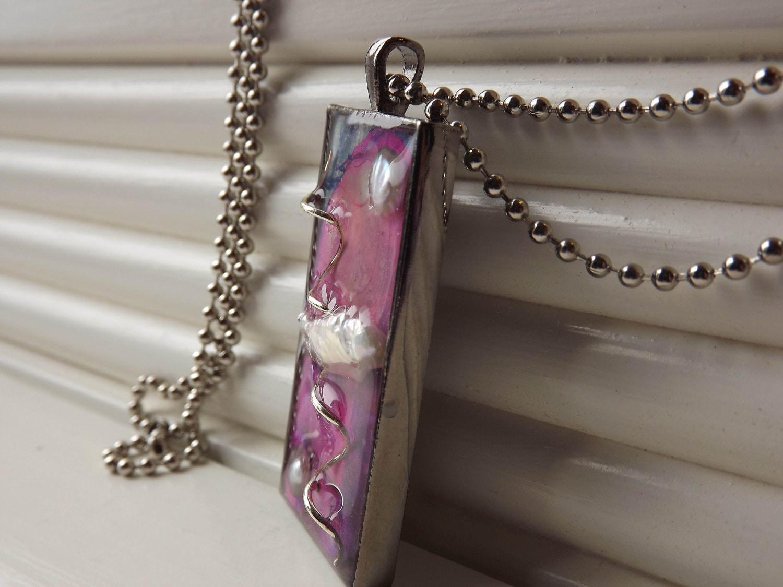 Jewelry Pendant -Art Resin Three Demensional