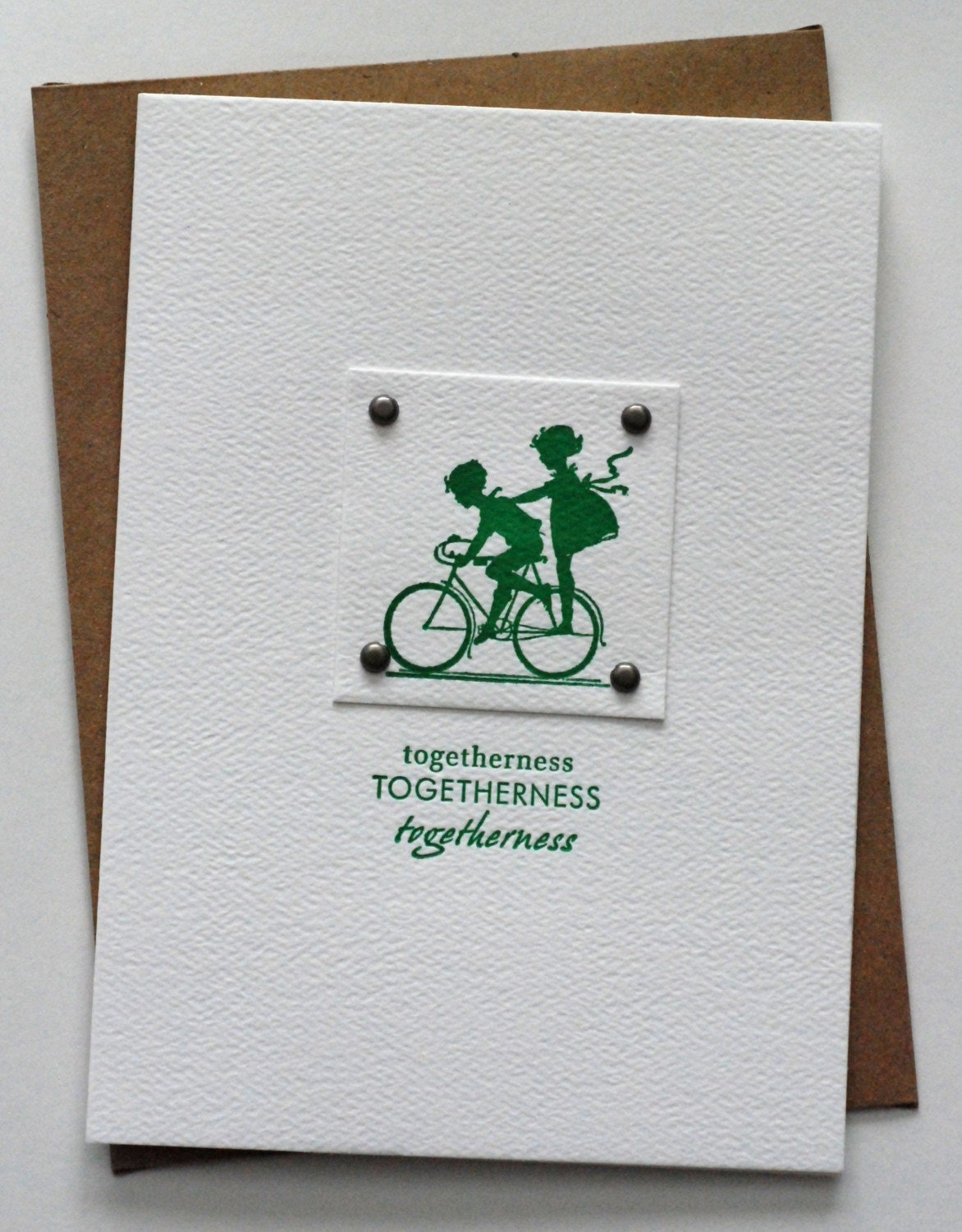 Letterpress Card - Togetherness