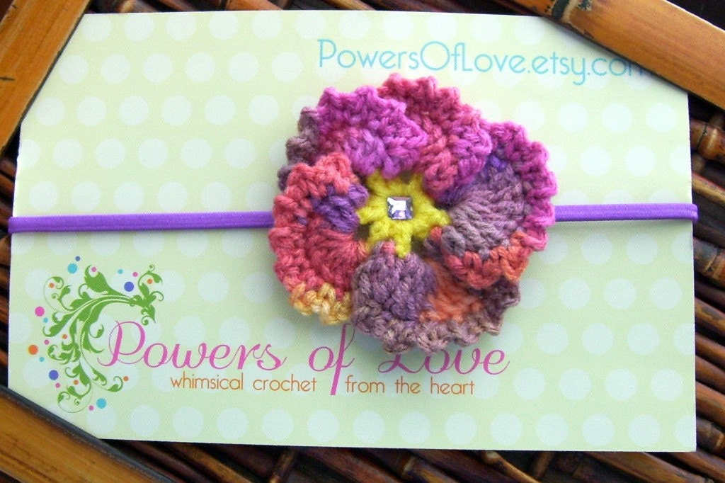 Melonberry Pansy Headband