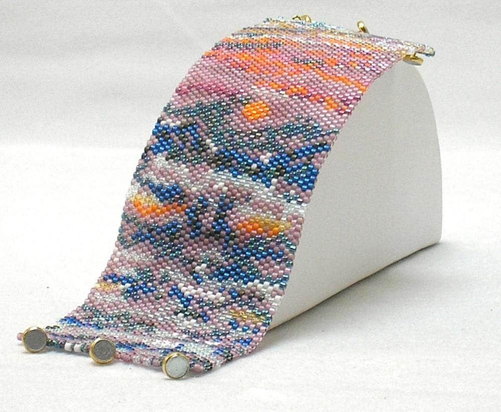 Hannah Rosner cuff bracelet bead pattern peyote stitch Monet