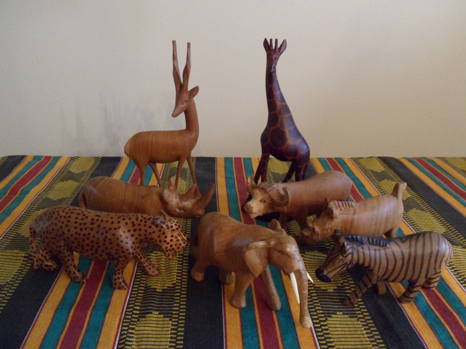 Items similar to african animal vintage piece collection