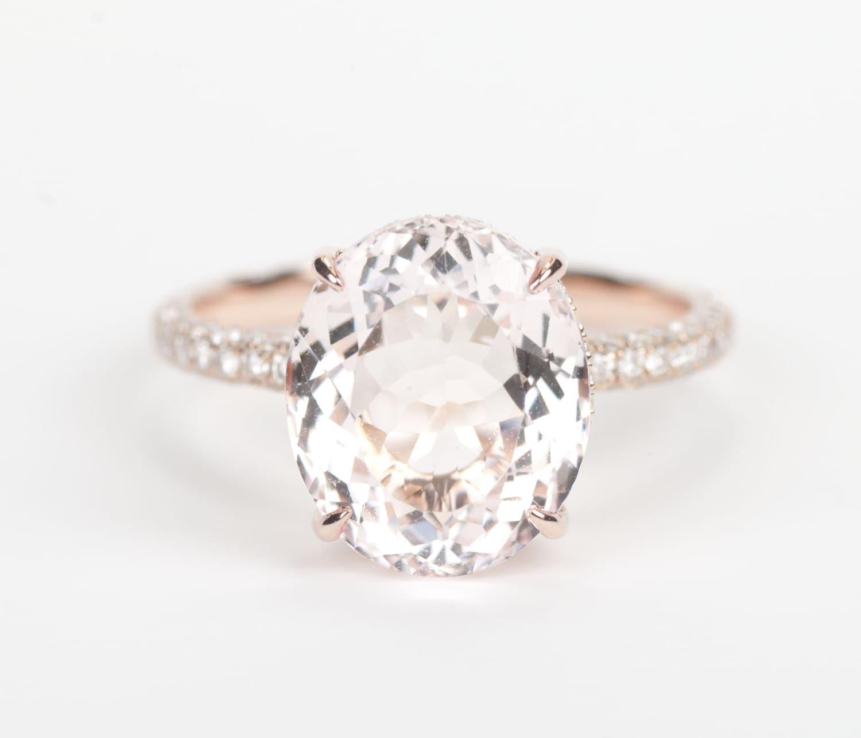 Rings Engagement Tiffany Diamond Tiffany Style Rings Engagement Engagement  Gold Engagement Oval Rose Gold Rings: Rings