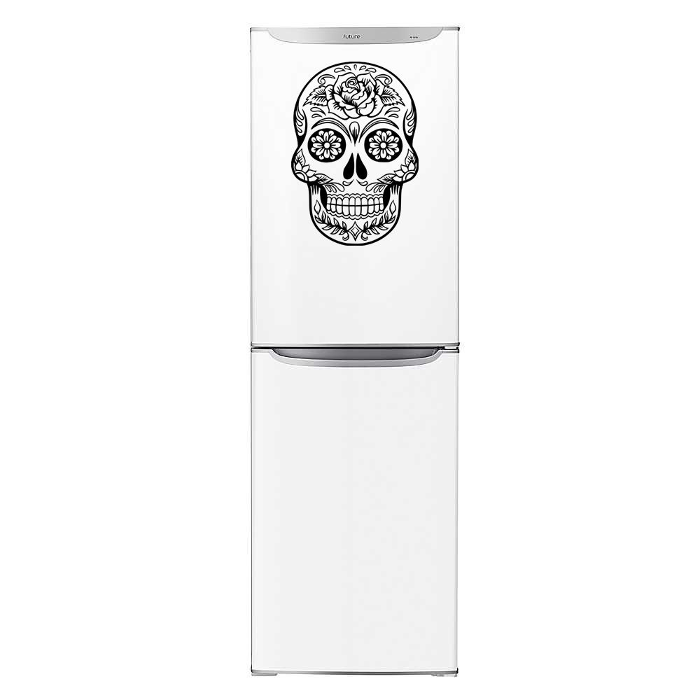 Fridge Decal Calavera Sugar Skull Vinyl Sitcker fridge decoration magnet transfer wall decal sticker dia de los muertos art