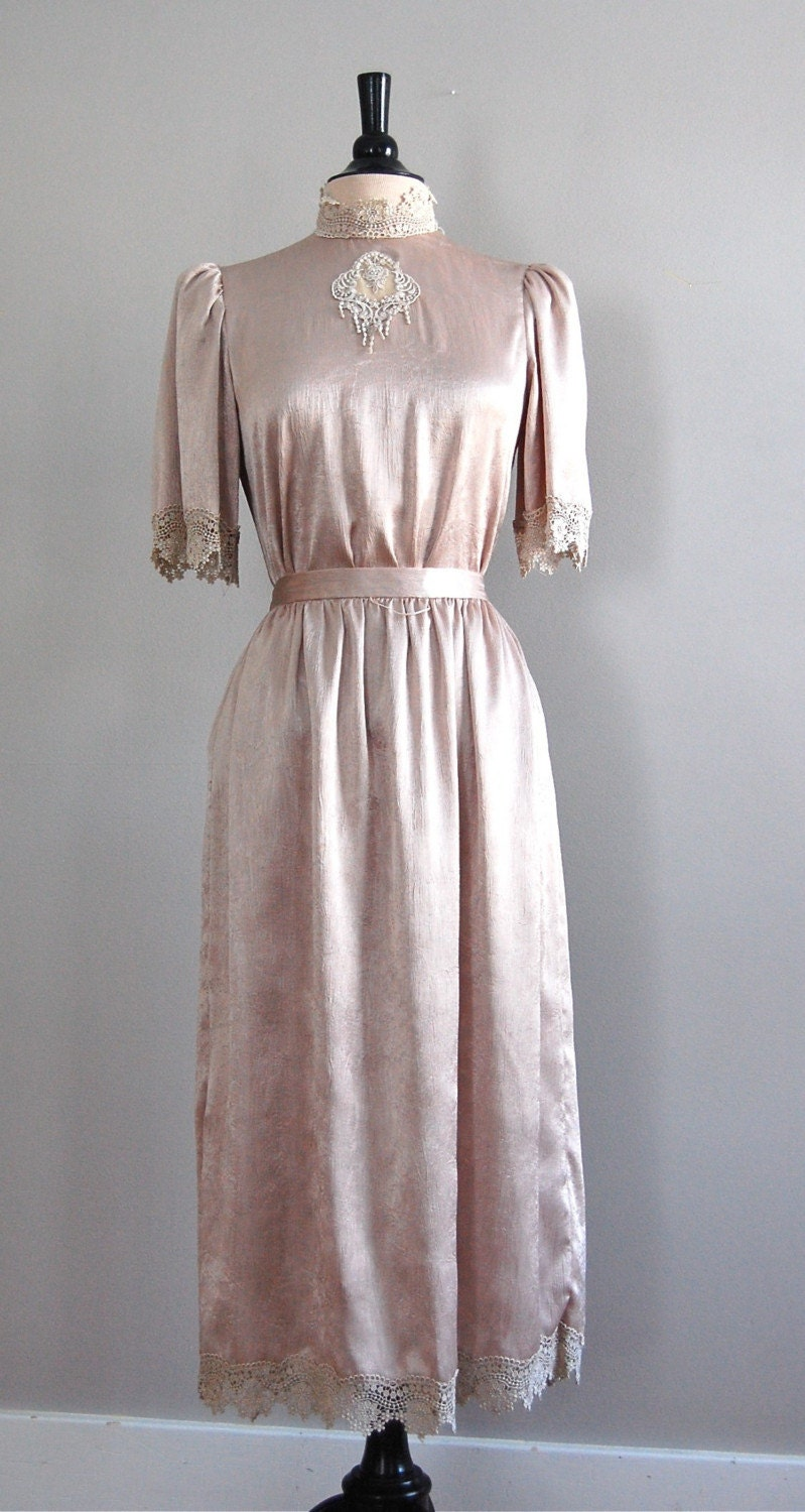 vintage EDWARDIAN REVIVAL dress