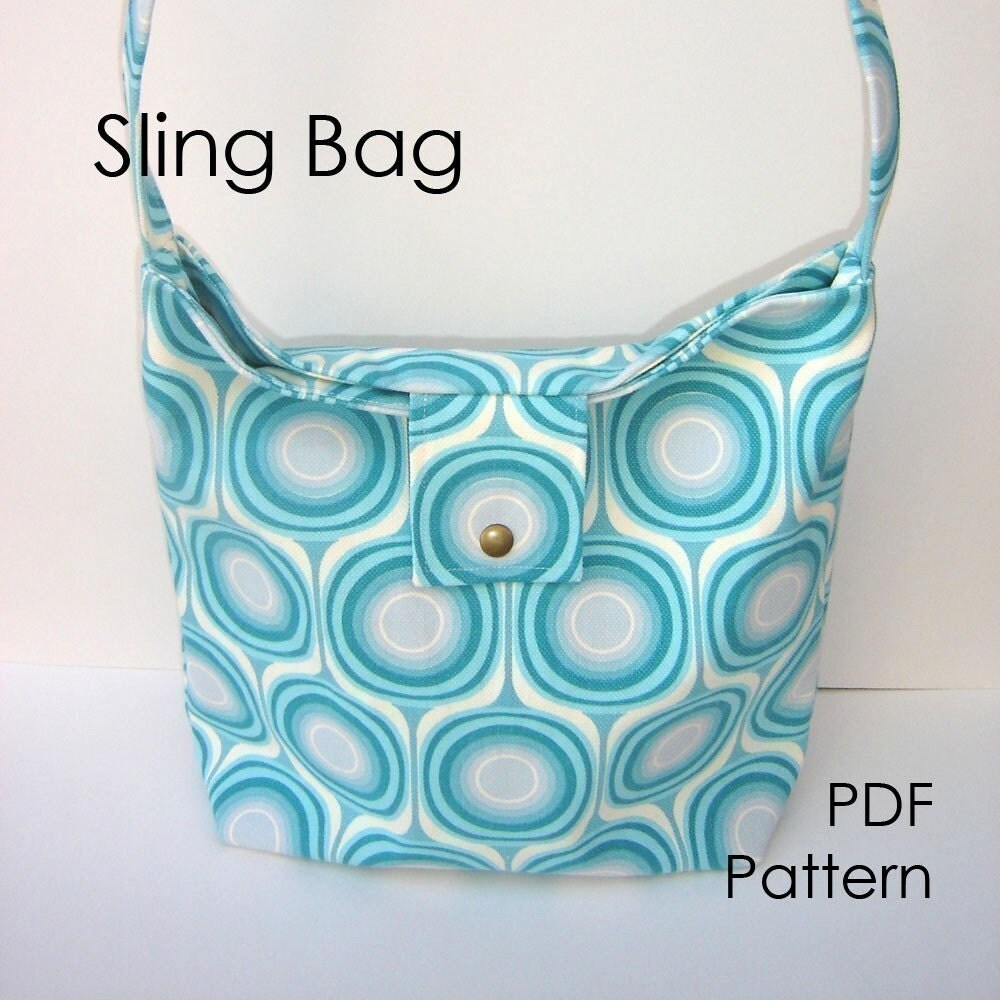 Pursepatterns : Purse Sewing Pattern Sling Bag Pattern PDF diy by CutAndTapeGirl