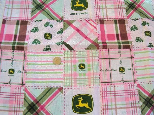 Girly John Deere Paintings : Girly john deere farm girl fabric in pink and by legacylinens