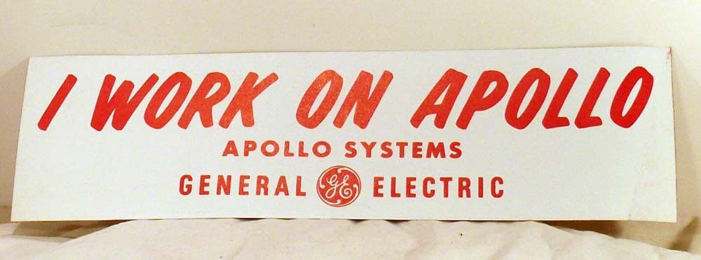 Original GE Apollo Systems Bumper Sticker