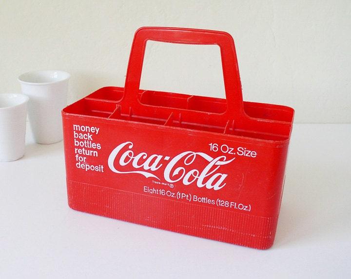 Vintage Coca Cola Bottle Carrier Coke Soft Drink Red By