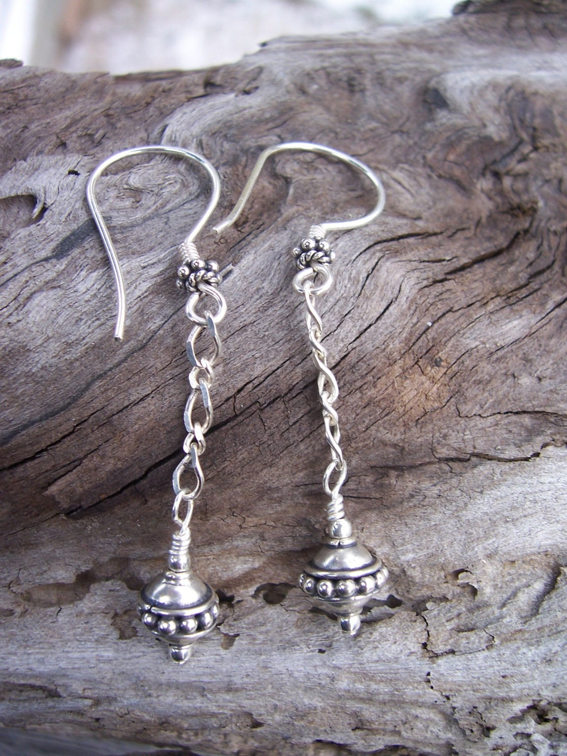 Bali Bead Silver Drops