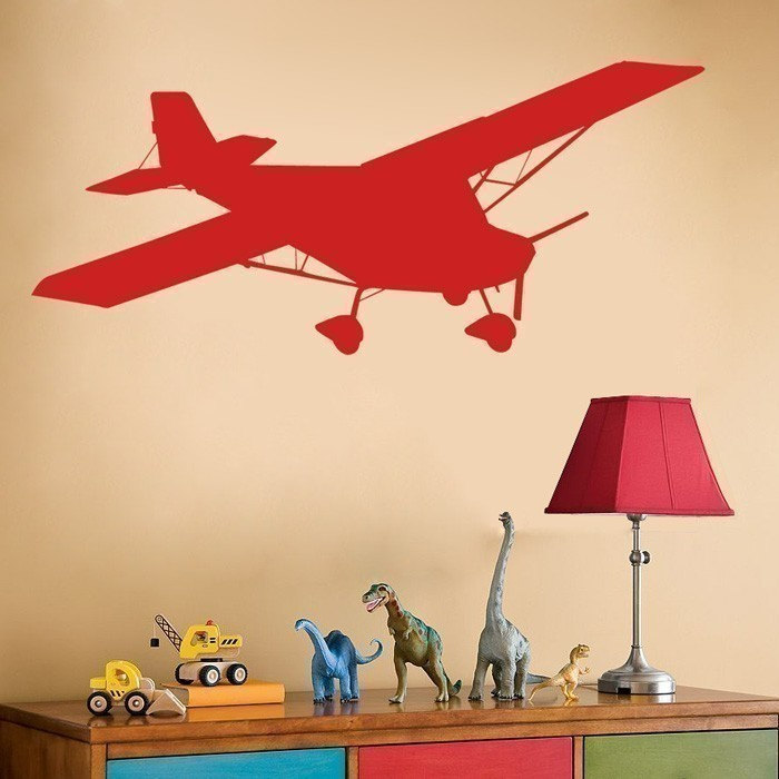 Airplane Decal - Wall Decals - Boys Room - Kids Room - Your choice of Color