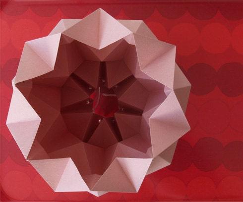 Můra origami stínítko růžová