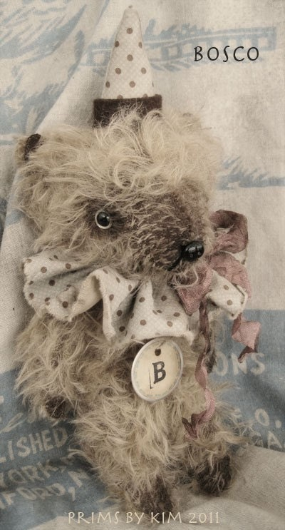 PRIMITIVE Sweet mohair Party BEAR named BOSCO