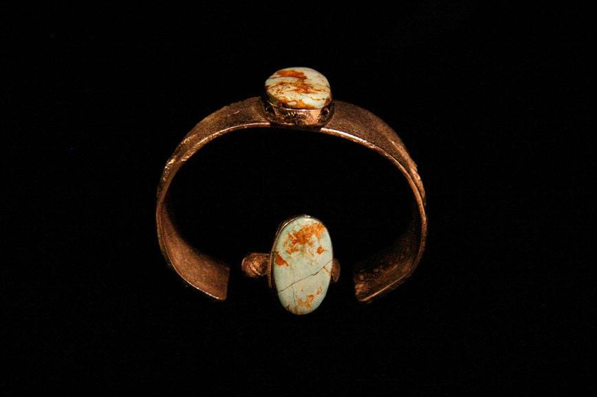 ON SALE - Tufa Cast Sterling Silver Bracelet (without ring)