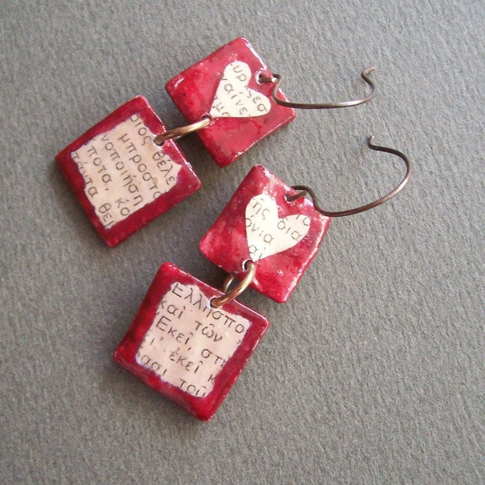 Jewelry i like on pinterest resins earrings and wire for How to make paper mache jewelry
