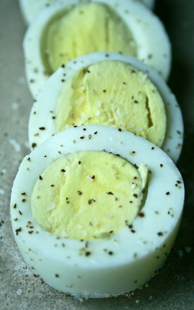 8x10 Food  Photography: Sliced Boiled Eggs