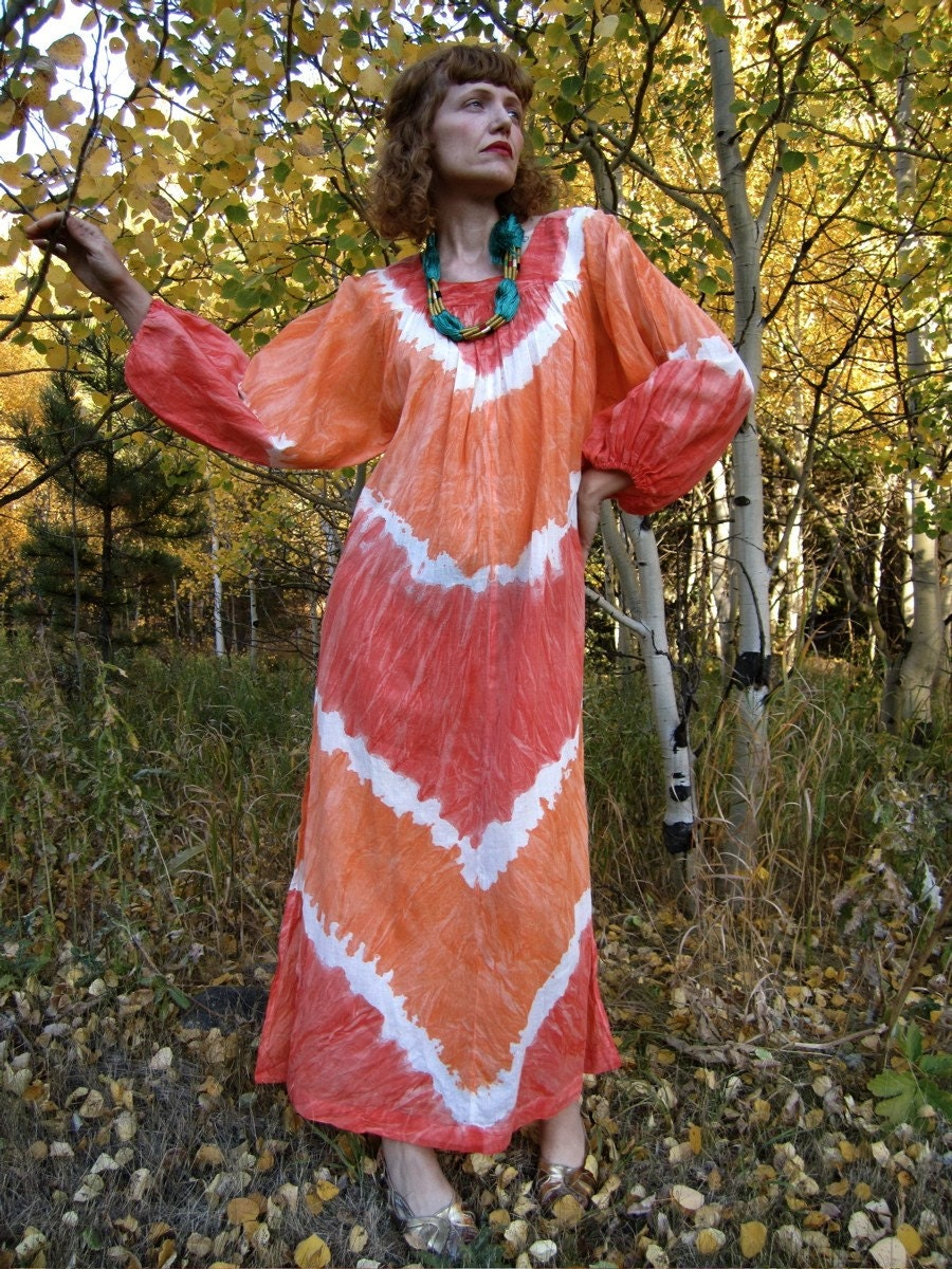 TANGERINE DREAM Tie Dye Maxi Hippie Dress