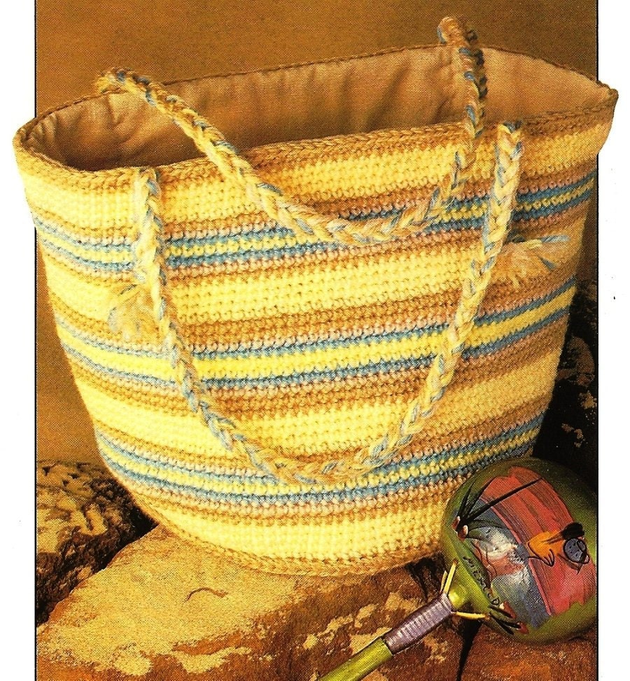 Crochet Plastic Bag Tote Pattern : ... to X971 Crochet PATTERN ONLY Carry All Tote Bag Pattern on Etsy