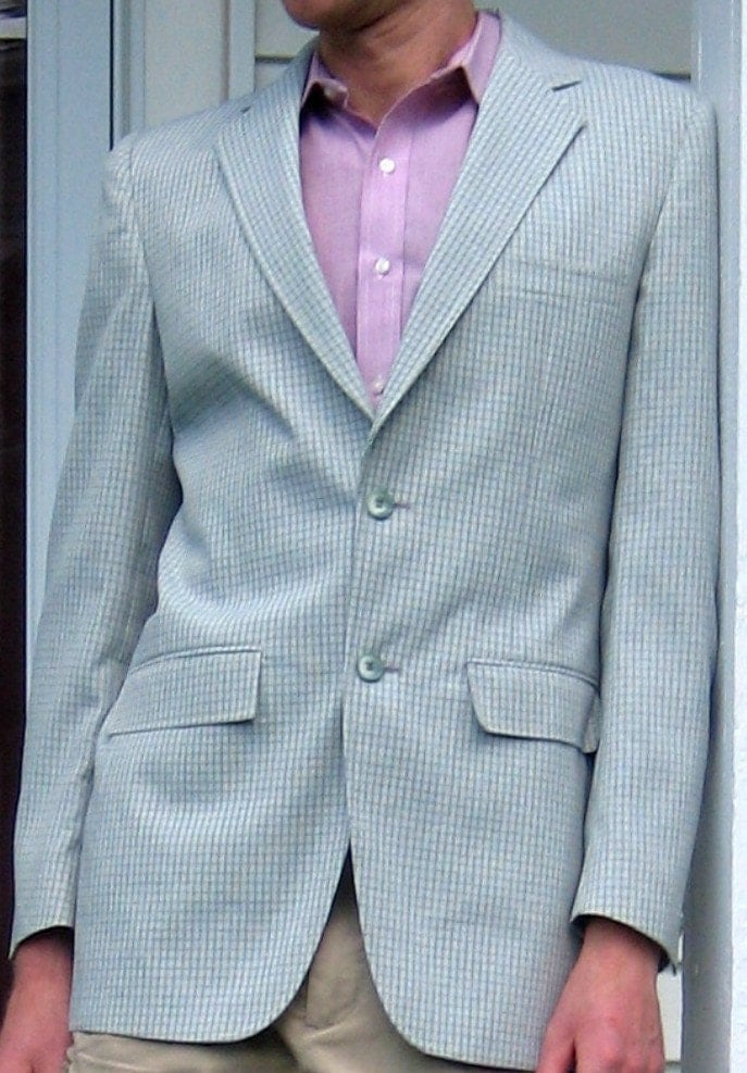 Vintage Town and Country Sage Plaid Sport Coat, Sale