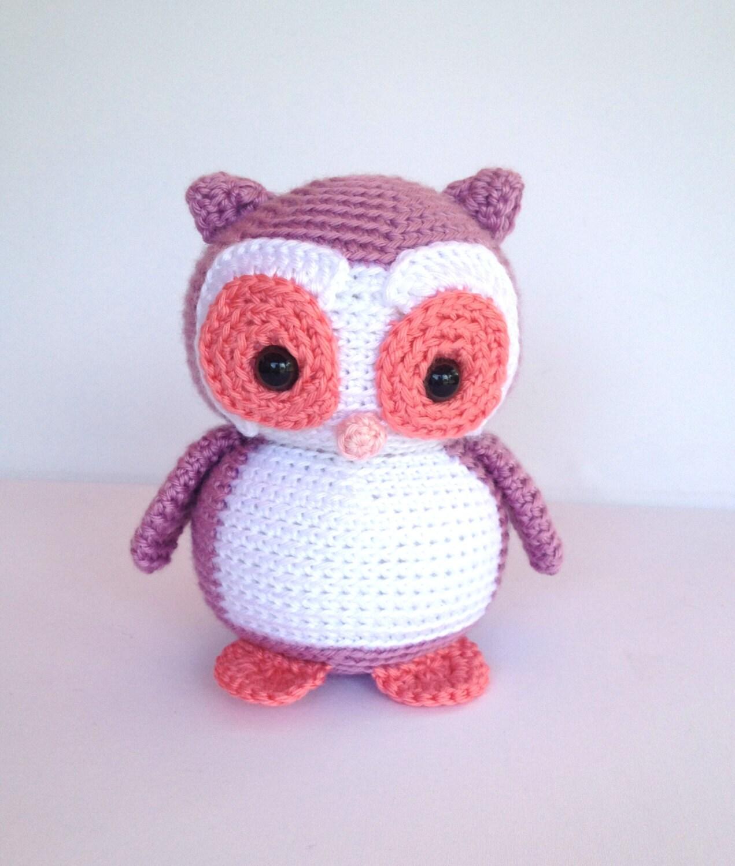 Crochet Owl Stuffed Animal in Purple by YouHadMeAtCrochet ...