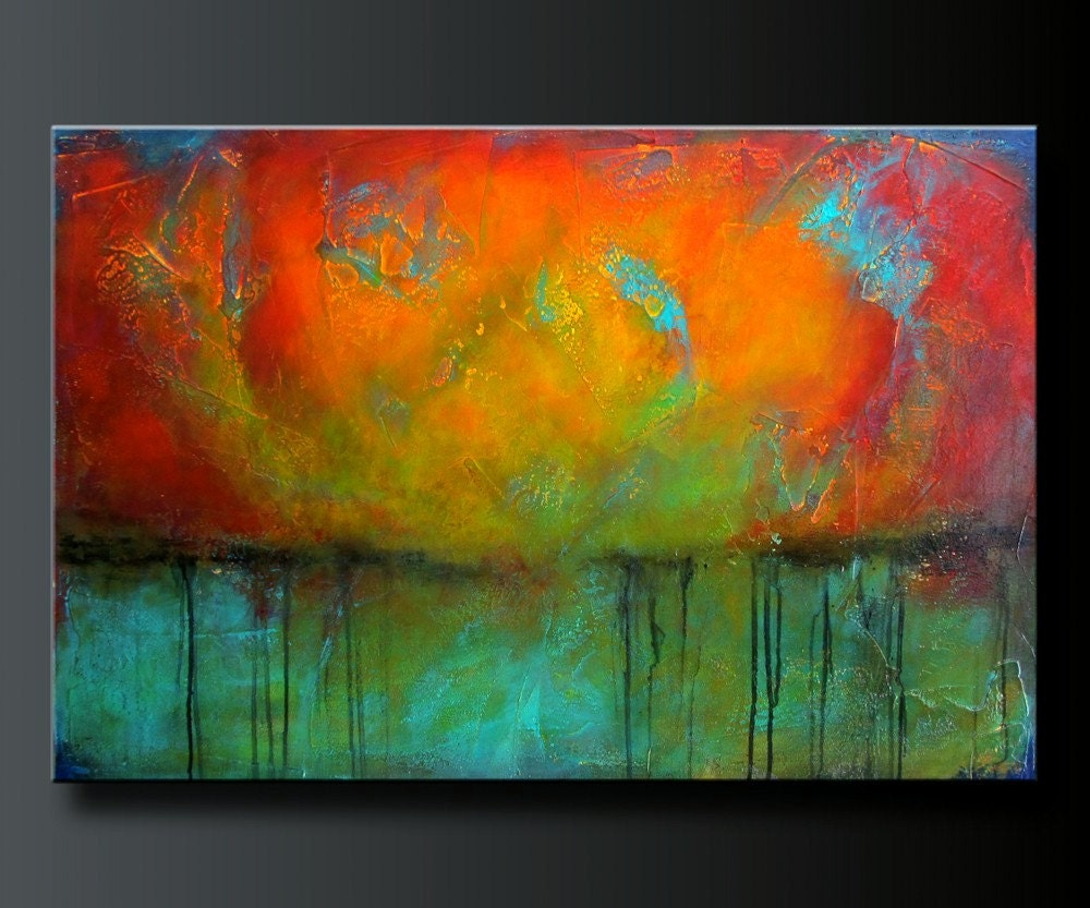 Abstract acrylics and acrylic paintings on pinterest for Acrylic paint mural