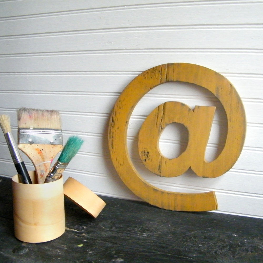 "At Symbol 10"" Letter Sign Mustard Yellow -Ready to Ship Item - SlippinSouthern"