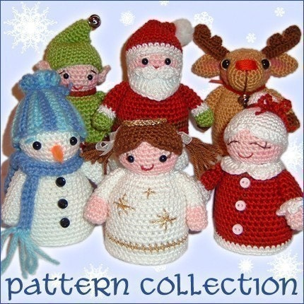PDF Pattern - Christmas Friends Collection