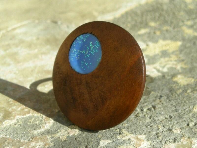 КАЛИПСО 4 Вуд и Полимерная глина кольцо