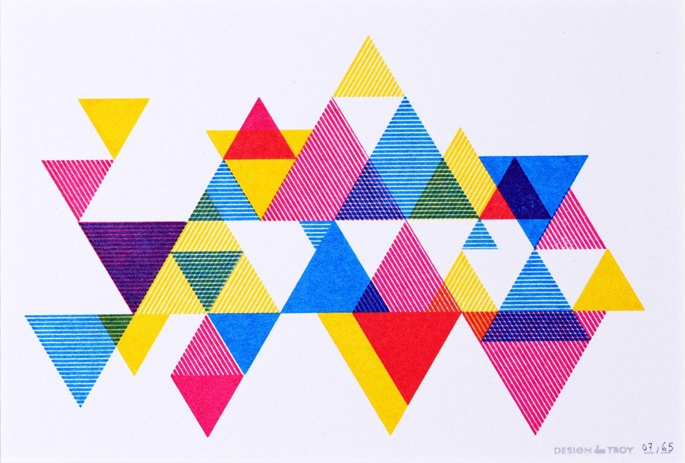 triangle colorful triangles art - photo #1