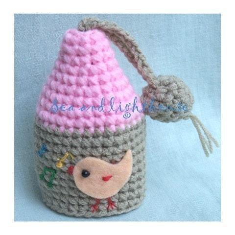 Crochet Patterns Key : Crochet pattern Sweety Bird house Key cover by ...