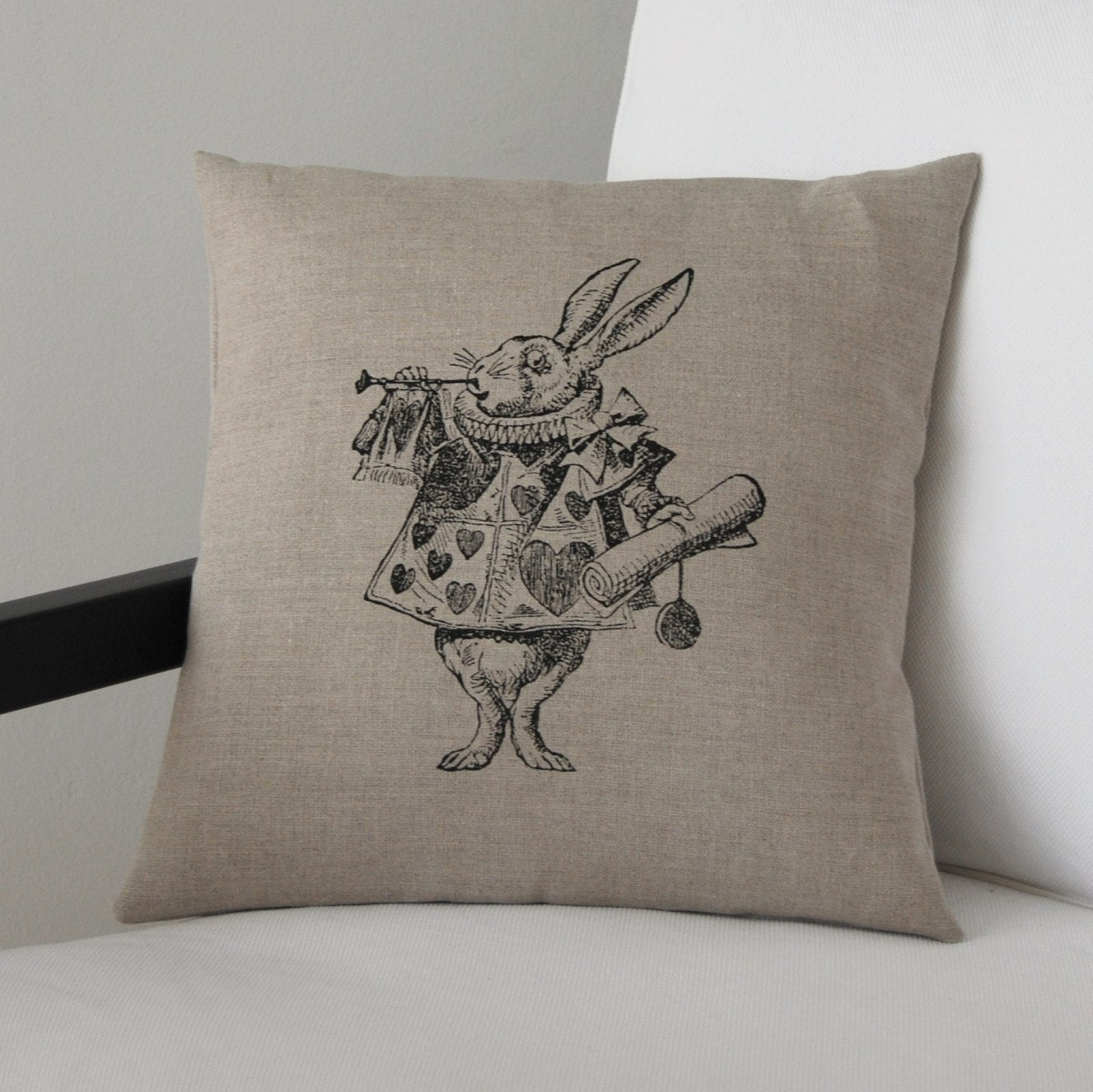 The White Rabbit Pillow Cover