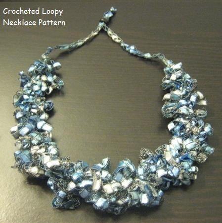 Crocheted Trellis Ladder Yarn Loopy Necklace by ...