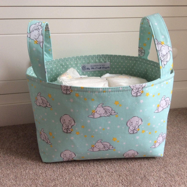 Baby storage basketFabric Storage basket Nappy Storage Nursery StorageToy storageNursery Decor Baby shower gift.