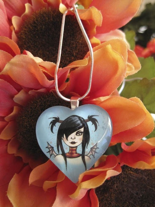 Fairy Fashion Chick Heart Pendant