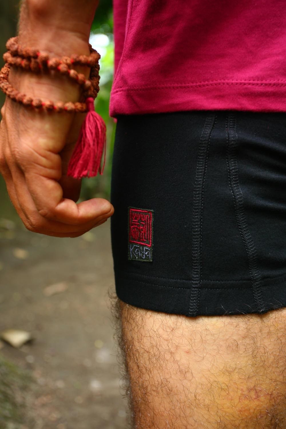 Mens cotton lycra yoga shorts Black size S by Kayayogawear on Etsy