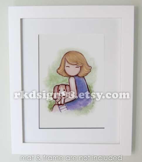 I will keep you - blonde - Cute Arts