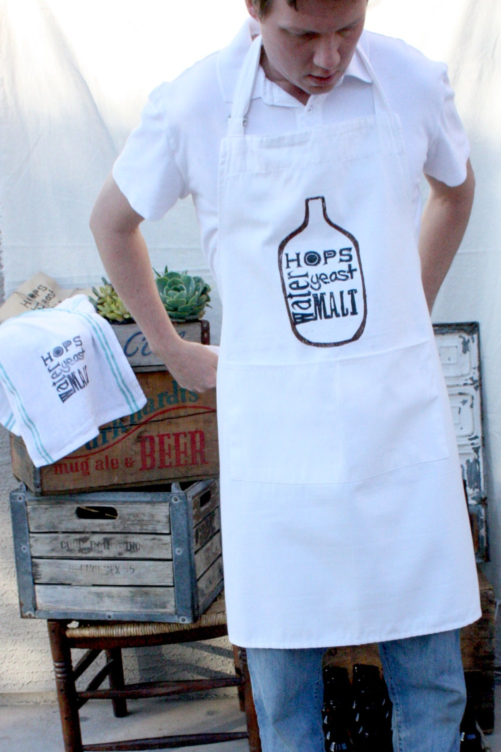 FATHERS DAY SPECIAL - Beer Brewing Apron - Home Brewing - Beer - Men - Dude - NestaHome