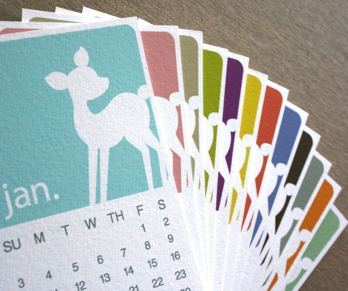 2010 CALENDAR - Mini Deer Series (Printable)