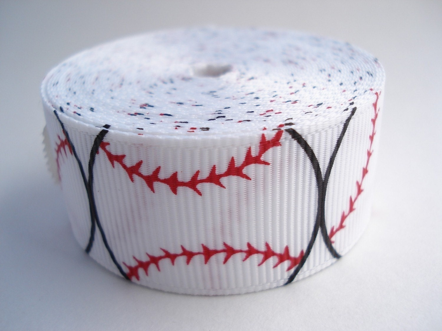 5 yards - 7/8 inch wide Grosgrain Ribbon with  Baseball Prints - Sports Ribbon