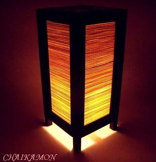 Oriental Japanese Chinese Bedroom Table Lamp Light Ebay