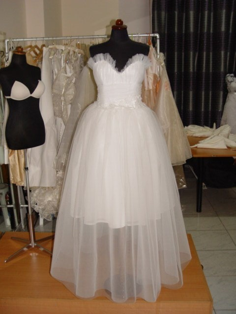 1950's style tea length tulle dress