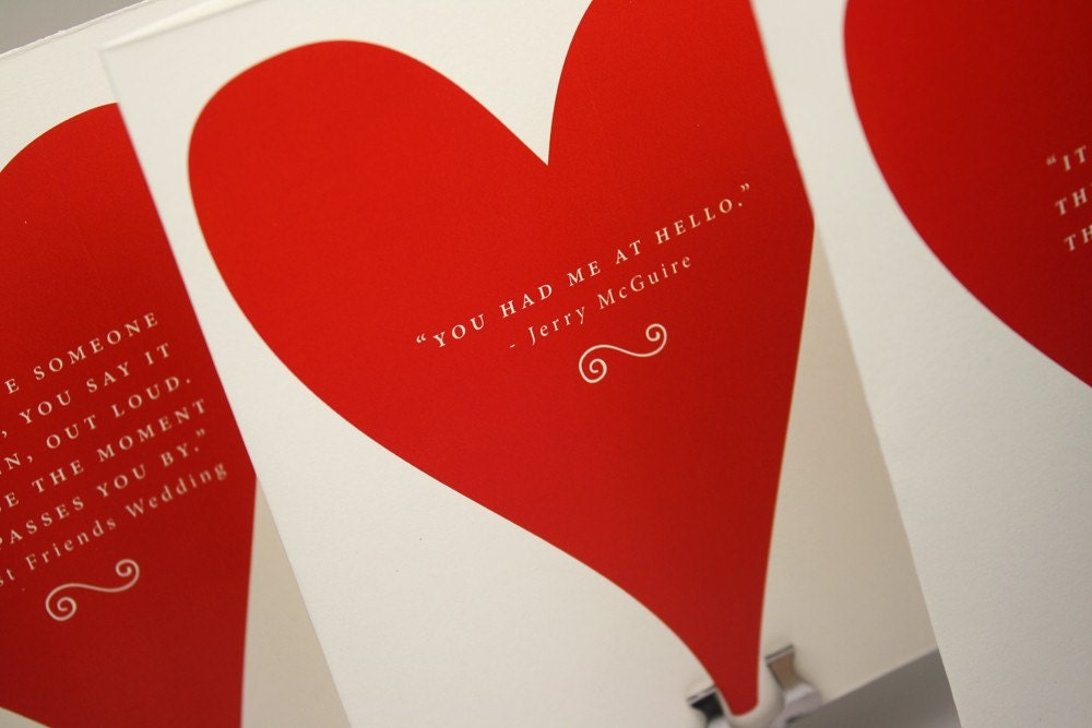 Valentine Movie Quotes, Part 1 Valentines Cards