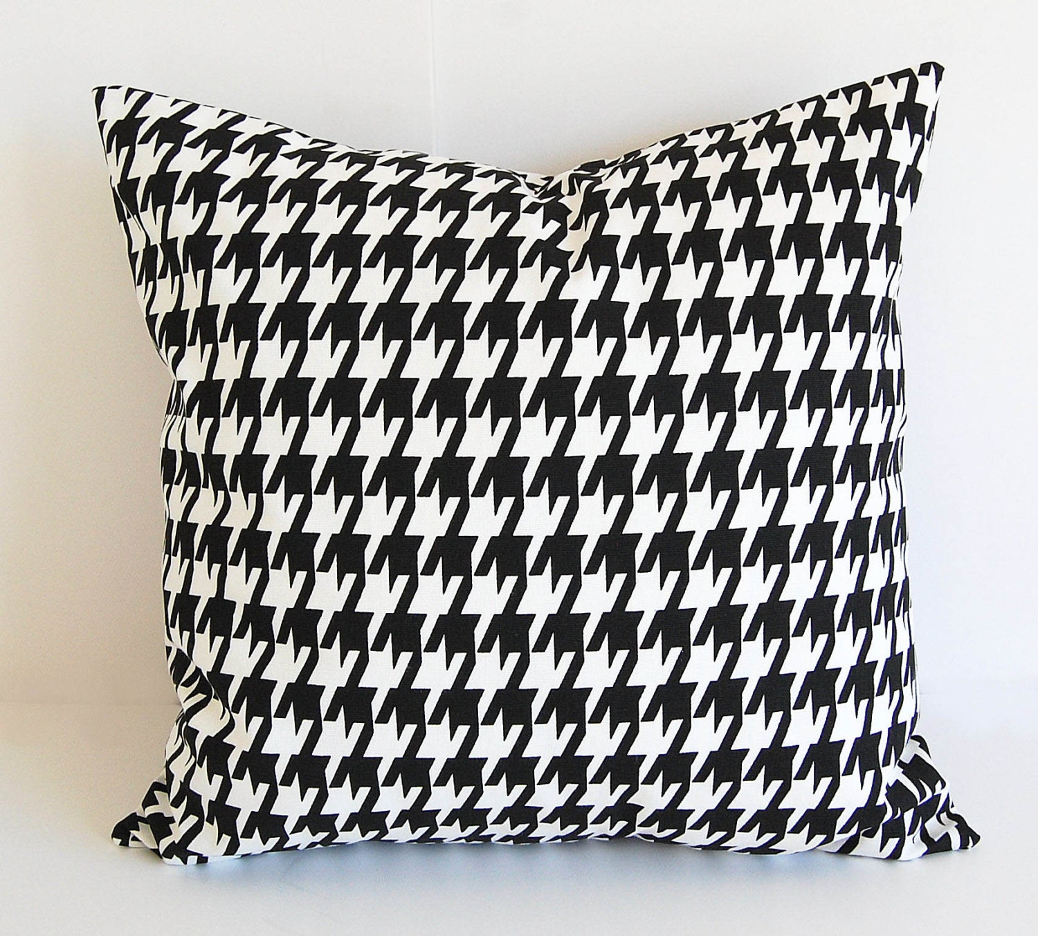 Black And White Houndstooth Throw Pillows : Houndstooth throw pillow cover One 16 x 16 by ThePillowPeople