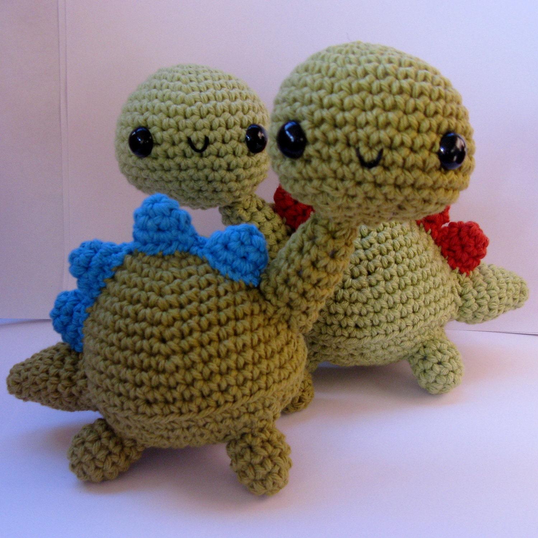 Amigurumi Dinosaur Pattern : Amigurumi Dinosaur PDF crochet pattern by anapaulaoli on Etsy