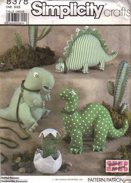 Sewing Pattern Baby Dinosaur - Easter and Christmas Fabric