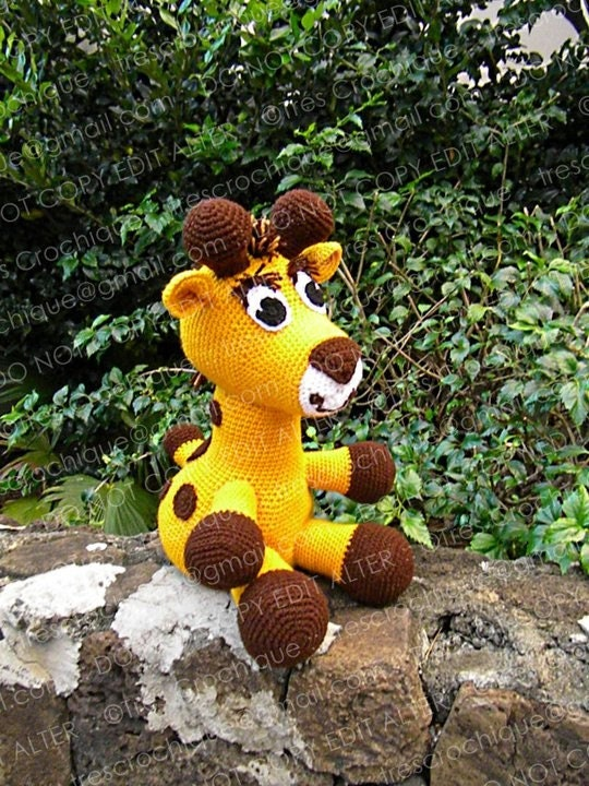 Crocheted Stuffed Giraffe - Charity Item - In Stock