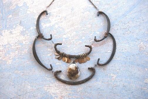 Summerian Goddess Necklace - Antique Hardware Collection