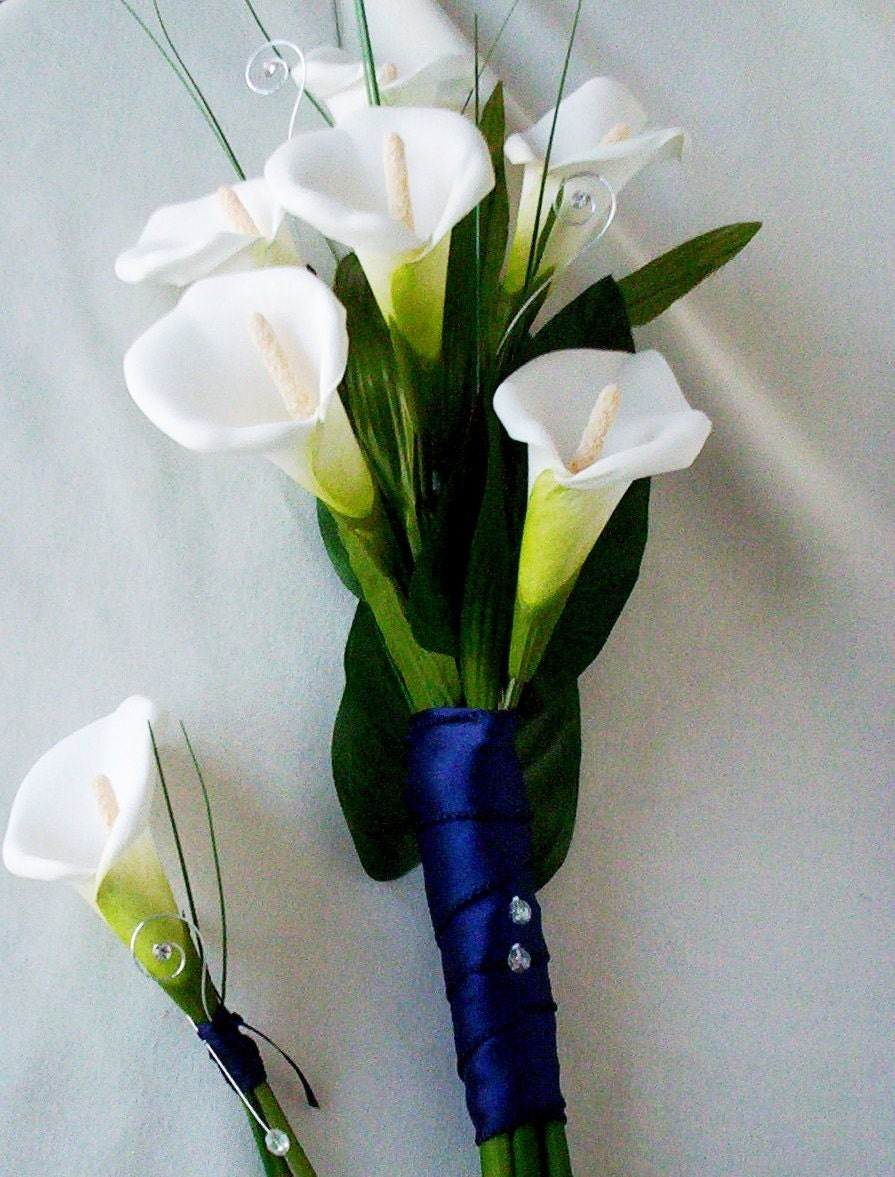 Silk Ivory Calla Lilly Bouquet Budget Bride