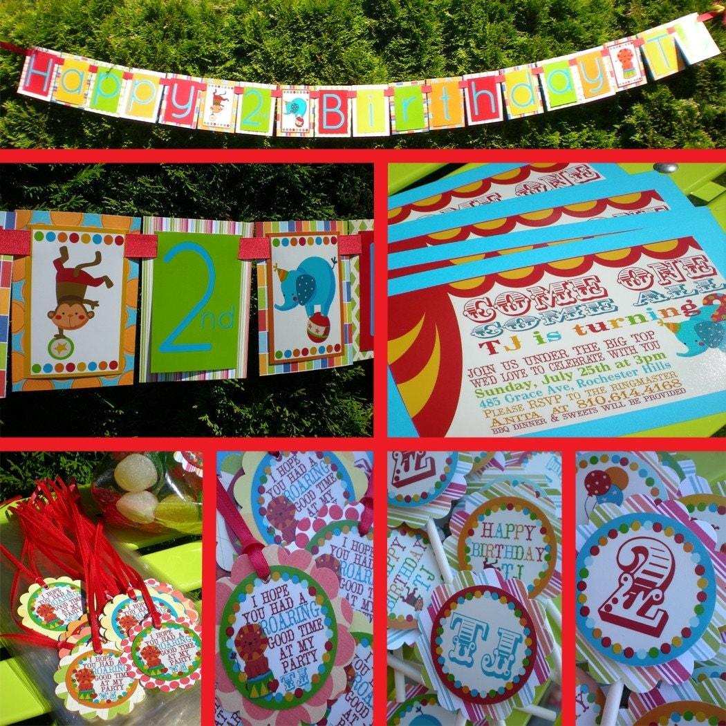 Inspired Celebration Birthday Party Circus